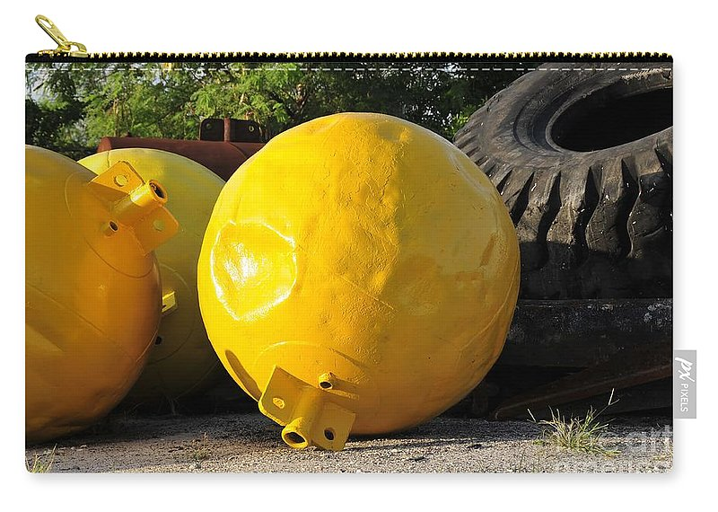 Yellow Carry-all Pouch featuring the photograph Big Yellow Balls by David Lee Thompson