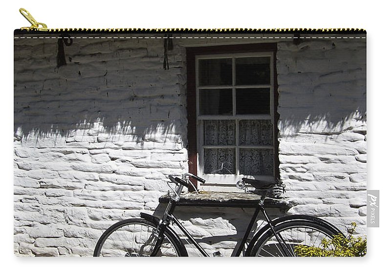 Irish Carry-all Pouch featuring the photograph Bike At The Window County Clare Ireland by Teresa Mucha