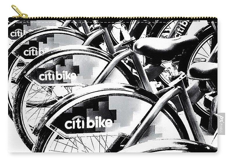Bike Carry-all Pouch featuring the photograph Bike Fleet by Diana Rajala