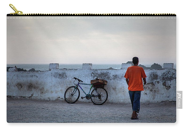 Bike Carry-all Pouch featuring the photograph Bike In Essaouira by Henri-Louis ROLAND