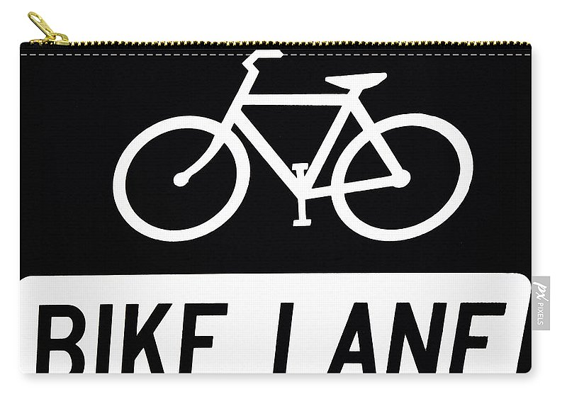 Bike Lane Carry-all Pouch featuring the photograph Bike Lane by Bill Cannon