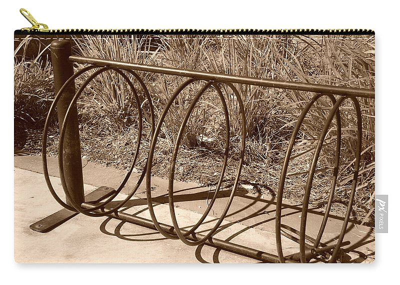 Bicycle Carry-all Pouch featuring the photograph Bike Rack by Rob Hans