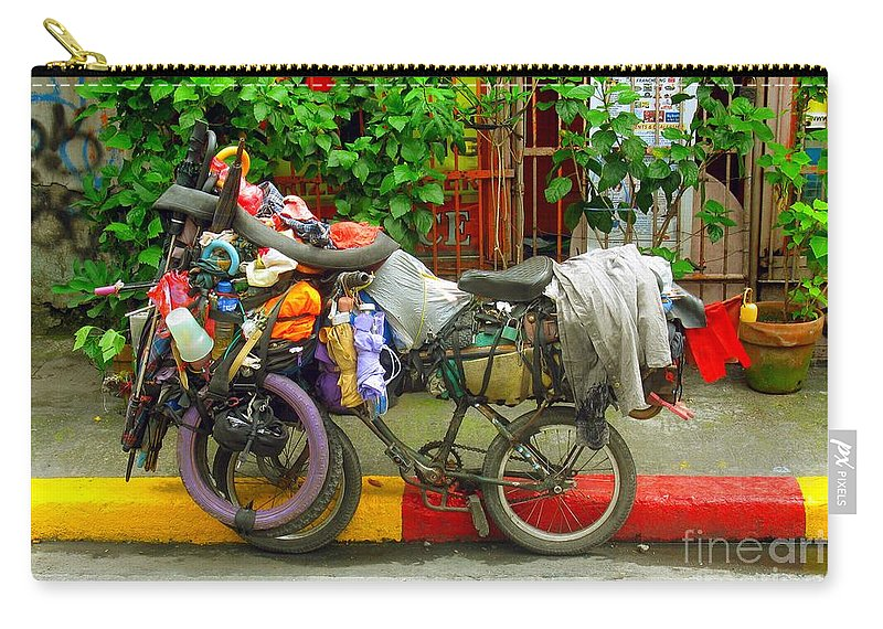 Bike Carry-all Pouch featuring the photograph Bike Repair Shop On Wheels by Christopher Shellhammer