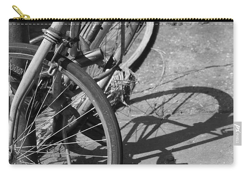 Bike Carry-all Pouch featuring the photograph Bike Shadow by Lauri Novak