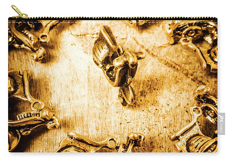 Vespa Carry-all Pouch featuring the photograph Bikes From Antique Italy by Jorgo Photography - Wall Art Gallery