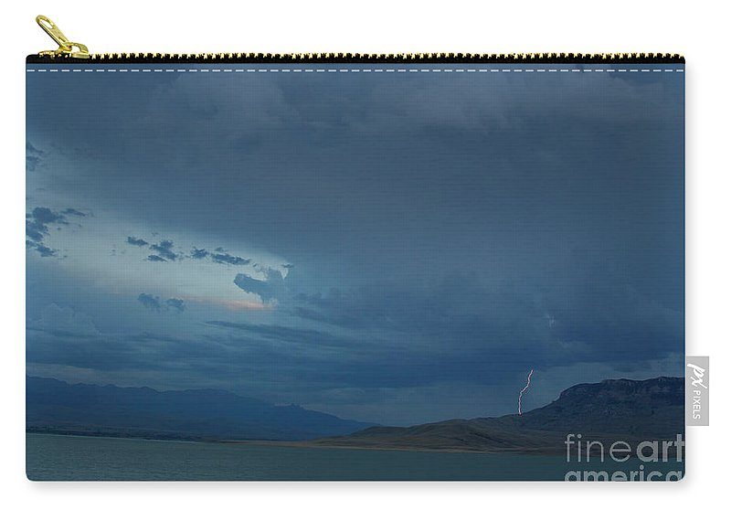Lightning Carry-all Pouch featuring the photograph Bill Cody Reservoir Lightning by J L Woody Wooden