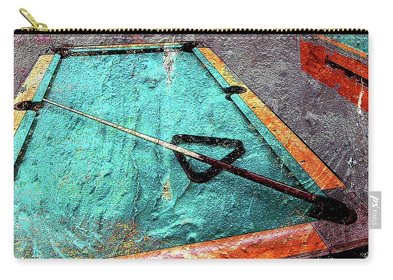 Billiards Carry-all Pouch featuring the digital art Billiards Art-pool Table by Takumi Park