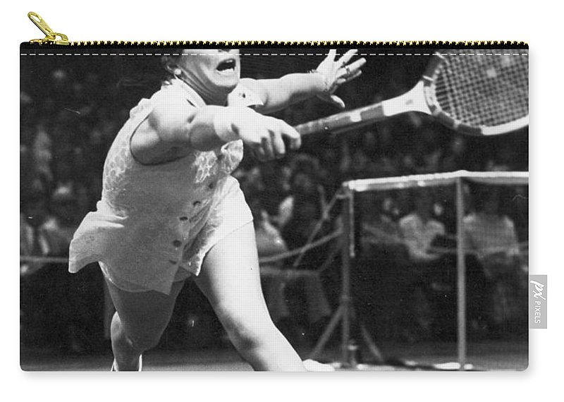 1974 Carry-all Pouch featuring the photograph Billie Jean King by Granger