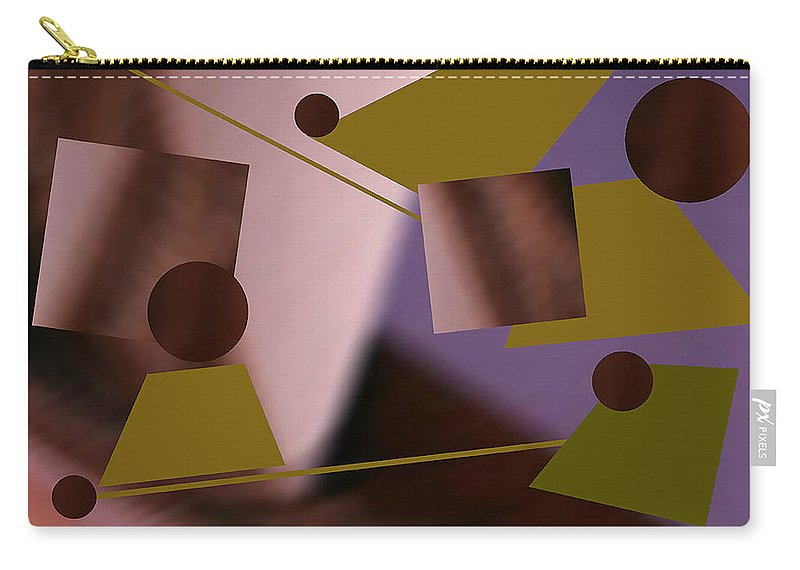 Abstract Carry-all Pouch featuring the digital art Binary by Roger Bester