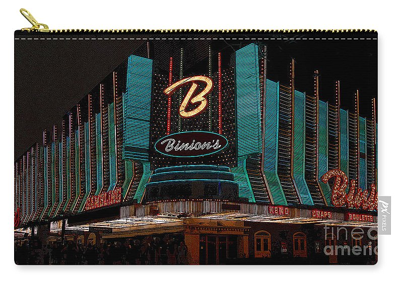 Art Carry-all Pouch featuring the painting Binions Vegas by David Lee Thompson