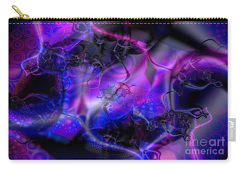 Bioluminescence Carry-all Pouch featuring the digital art Biolumineon by Ron Bissett