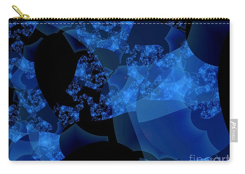 Fractal Art Carry-all Pouch featuring the digital art Bioluminescence by Ron Bissett