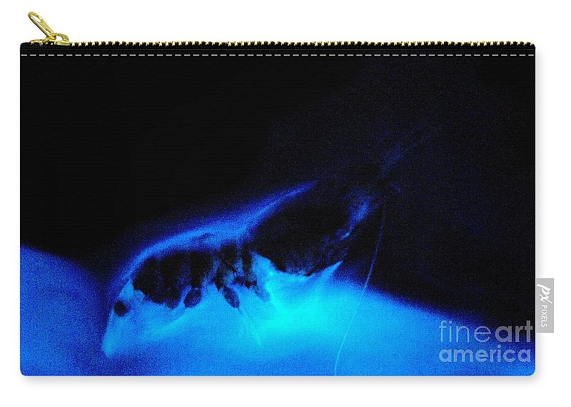 Mesopelagic Carry-all Pouch featuring the photograph Bioluminescent Cloud Released By Shrimp by Dant� Fenolio