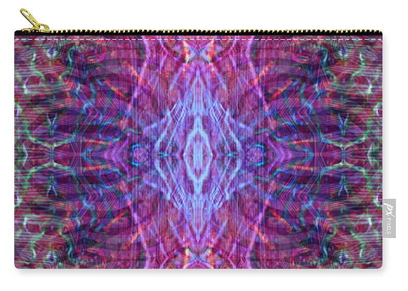 Abstract Carry-all Pouch featuring the digital art Biomorphic Syntax by Ryan Ross