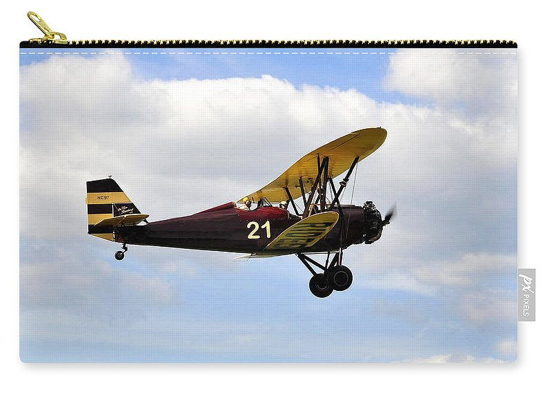 Biplane Carry-all Pouch featuring the photograph Biplane by David Lee Thompson