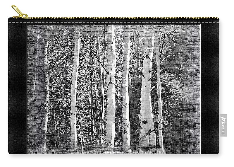 Birch Trees Carry-all Pouch featuring the photograph Birch Trees by Susan Kinney