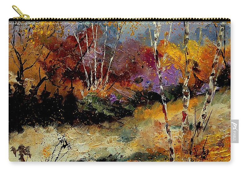 Tree Carry-all Pouch featuring the painting Birchtrees 459090 by Pol Ledent
