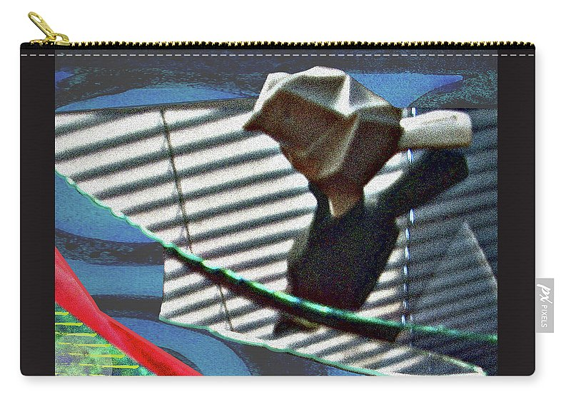 Broken Glass Carry-all Pouch featuring the digital art Bird Glass Redo by James Raynor