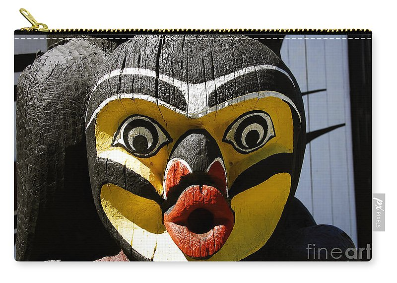 Totem Carry-all Pouch featuring the photograph Bird Man by David Lee Thompson