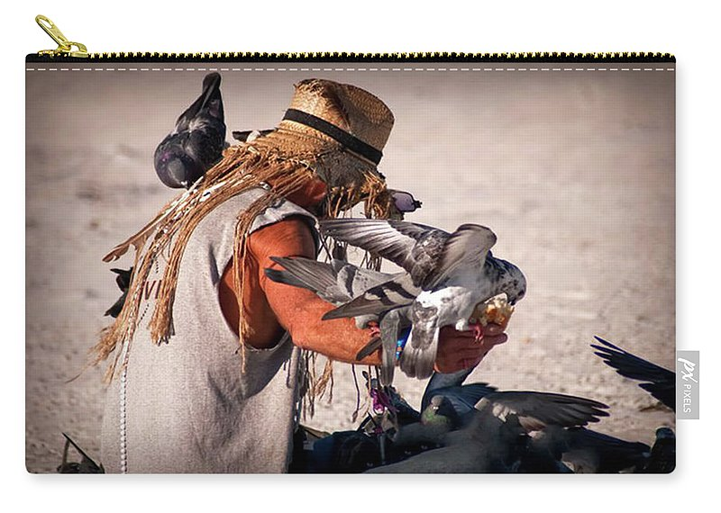 Birds Carry-all Pouch featuring the photograph Bird Man by Jennifer Stackpole