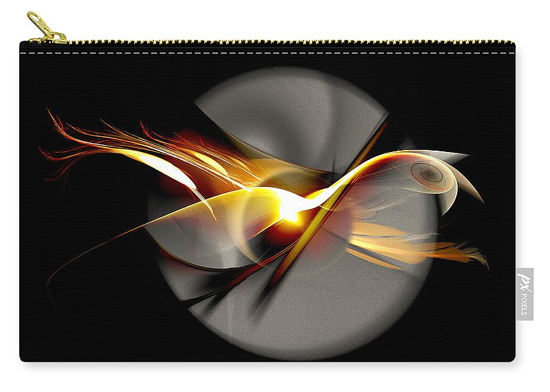 Bird Carry-all Pouch featuring the digital art Bird of Passage by Aniko Hencz