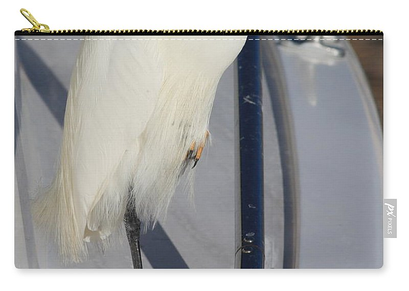 Carry-all Pouch featuring the greeting card Bird On Boat by Carol Groenen