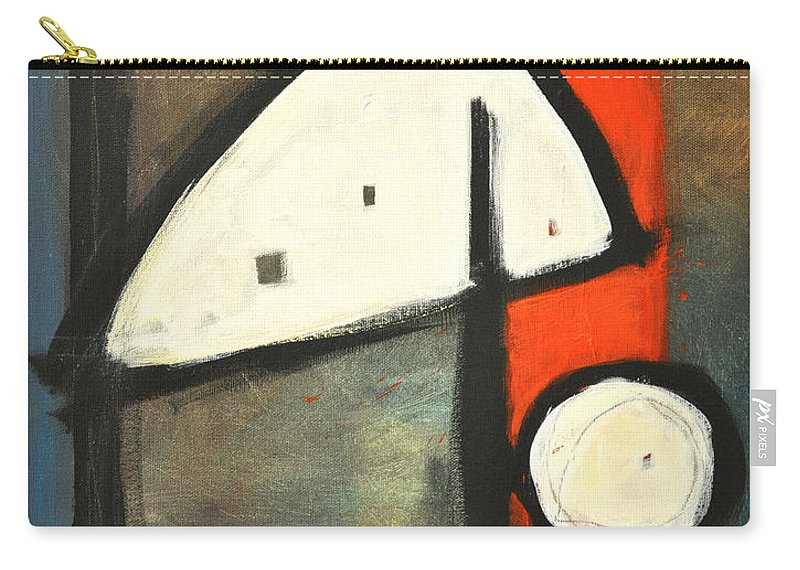 Abstract Carry-all Pouch featuring the painting Bird by Tim Nyberg