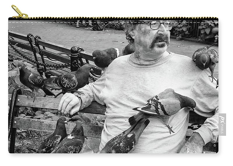 Bird Carry-all Pouch featuring the photograph Birdman Of Wsp by Eric Lake