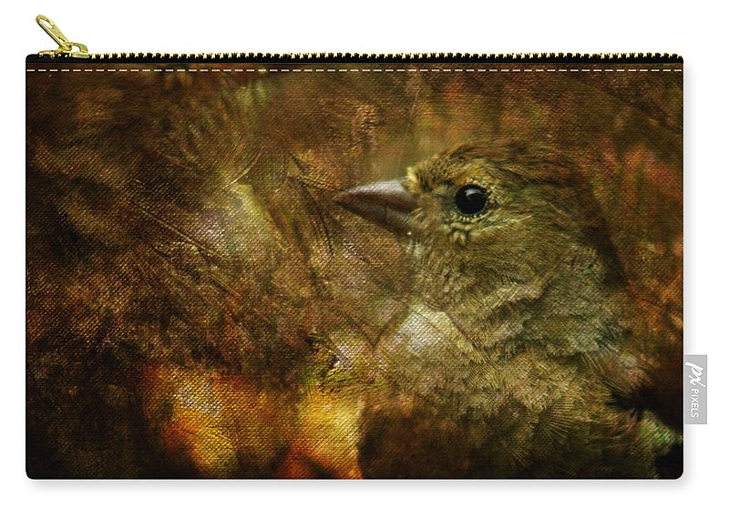 Sparrow Carry-all Pouch featuring the photograph Birds by Angel Tarantella