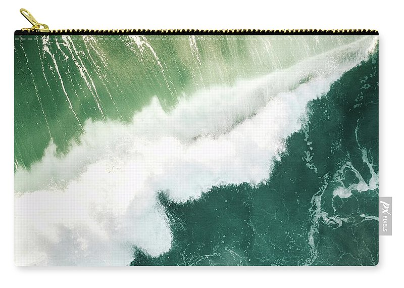 Waves Carry-all Pouch featuring the photograph Birds Eye by Sebastian Musial
