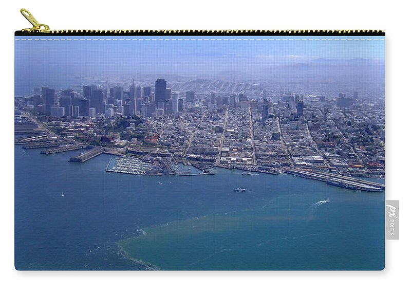 San Francicsco Carry-all Pouch featuring the photograph Bird's Eye View by Donna Blackhall
