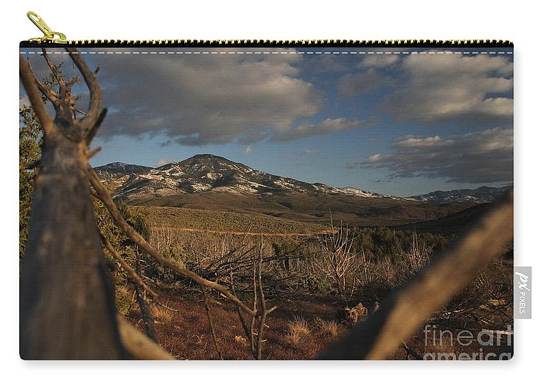 Tree Carry-all Pouch featuring the photograph Bird's Eye View by Marlous Bleazard