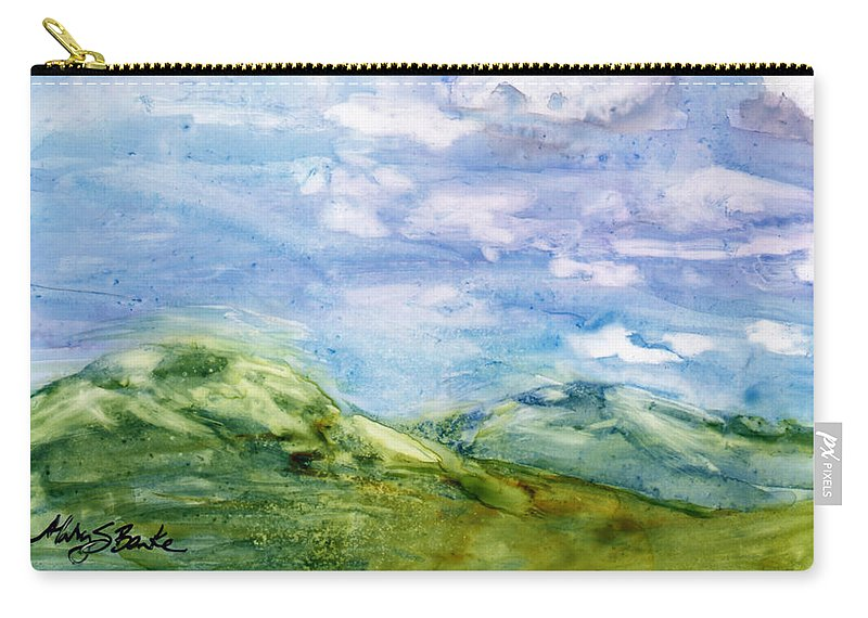 Beauty Carry-all Pouch featuring the painting Bird's Eye View by Mary Benke