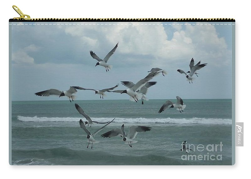 Birds Carry-all Pouch featuring the photograph Birds In Flight by Barb Montanye Meseroll