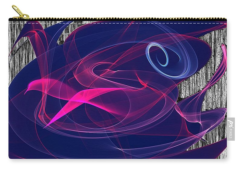 Birds Of Paradise Carry-all Pouch featuring the digital art Birds Of Paradise by Maciek Froncisz