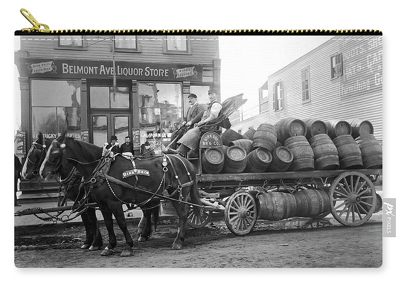 Chicago Carry-all Pouch featuring the photograph Birk Brothers Brewing Company C. 1895 by Daniel Hagerman