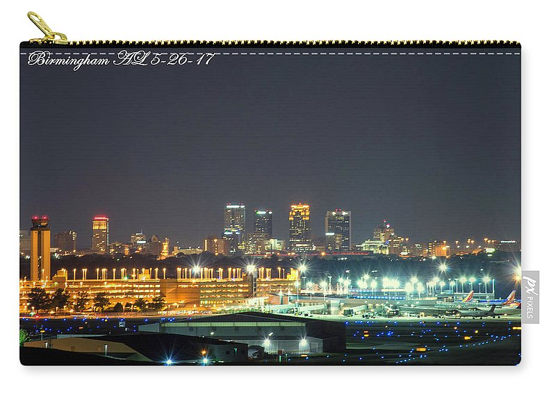 Birmingham Airport Carry-all Pouch featuring the photograph Birmingham Airport ,skyline by Jeffery Gordon