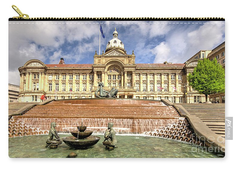 Birmingham Carry-all Pouch featuring the photograph Birmingham City Town Hall by Rob Hawkins