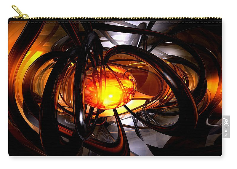 3d Carry-all Pouch featuring the digital art Birth Of A Sun Abstract by Alexander Butler