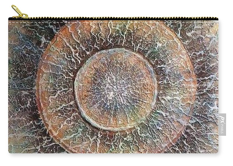Mixed Media Carry-all Pouch featuring the painting Birth Of Music by Agnieszka Adamska