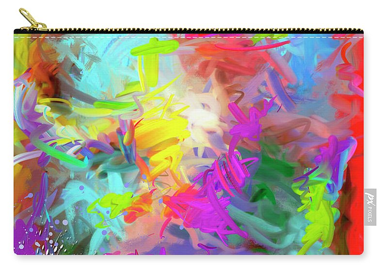 Abstract Carry-all Pouch featuring the painting Birth Of Venus by Snake Jagger