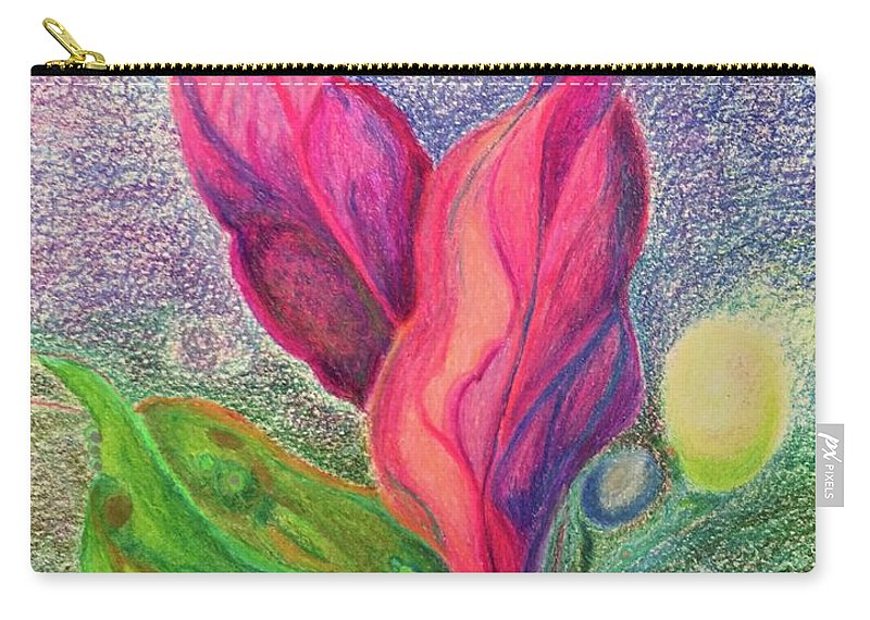 Seascape Nature Plants Seas Water Growth Sealife Birth Carry-all Pouch featuring the drawing Birth by Suzanne Udell Levinger