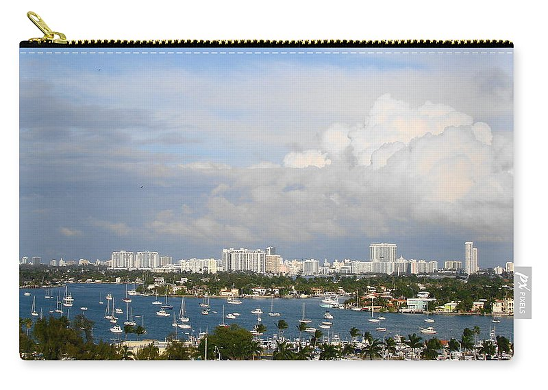Miami Carry-all Pouch featuring the photograph Biscayne Bay by Margaret Bobb