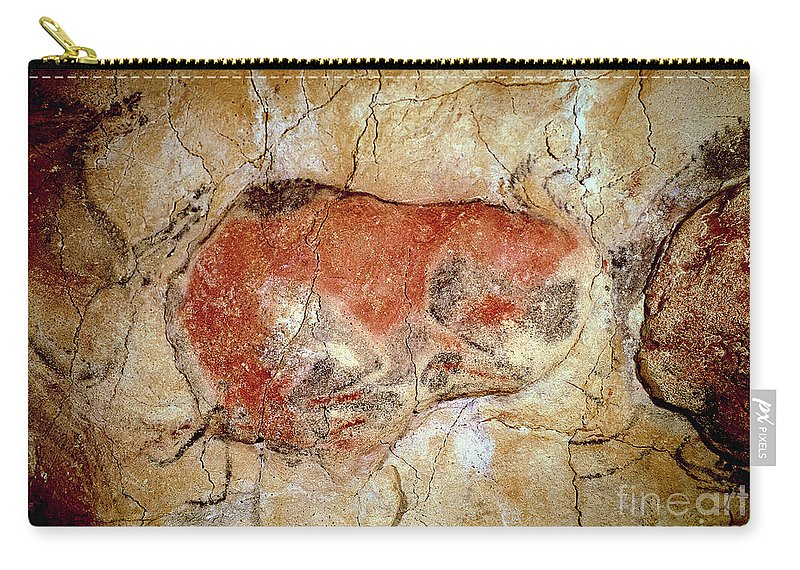 Bison Carry-all Pouch featuring the painting Bison From The Altamira Caves by Prehistoric