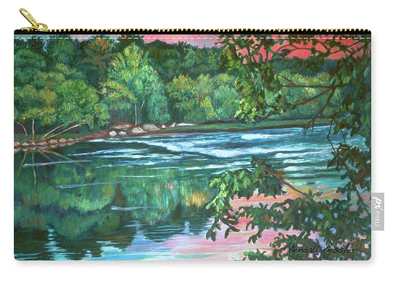 River Carry-all Pouch featuring the painting Bisset Park Rapids by Kendall Kessler