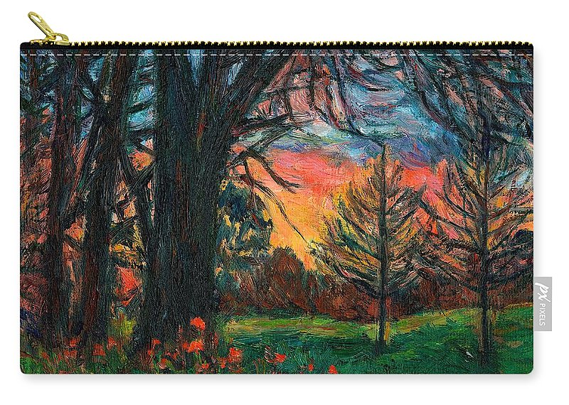 Landscape Carry-all Pouch featuring the painting Bisset Park Sunrise by Kendall Kessler