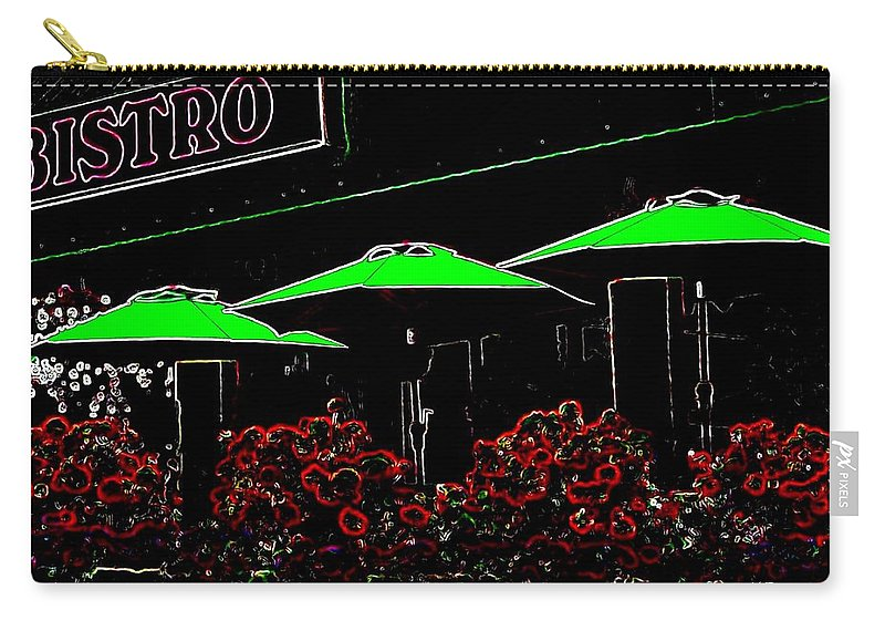Abstract Carry-all Pouch featuring the digital art Bistro by Will Borden