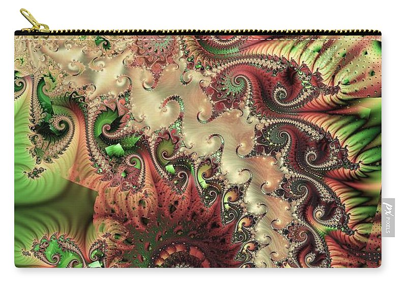 Spiral Carry-all Pouch featuring the digital art Bisymmetric Spiral Spring by Ron Bissett