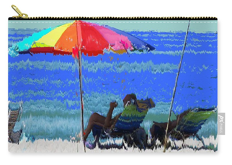 Venice Carry-all Pouch featuring the photograph Bit Of Shade On The Beach by Ian MacDonald