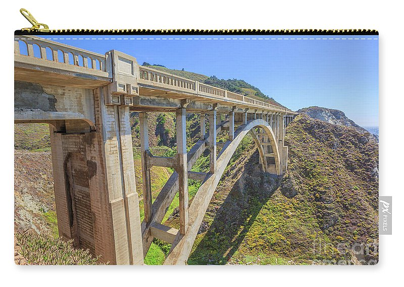 California Carry-all Pouch featuring the photograph Bixby Bridge Big Sur by Benny Marty